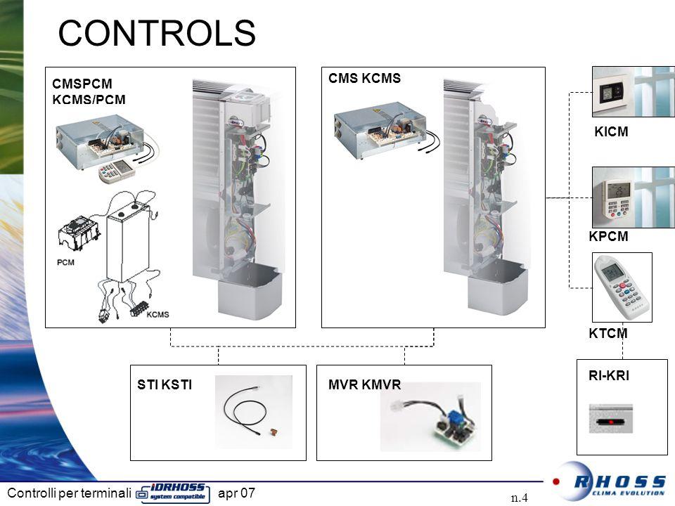 Controlli per terminali apr 07 n.4 CMS KCMS CMSPCM KCMS/PCM STI KSTIMVR KMVR RI-KRI CONTROLS KPCM KTCM KICM
