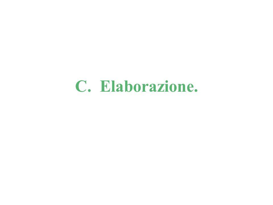 C. Elaborazione.