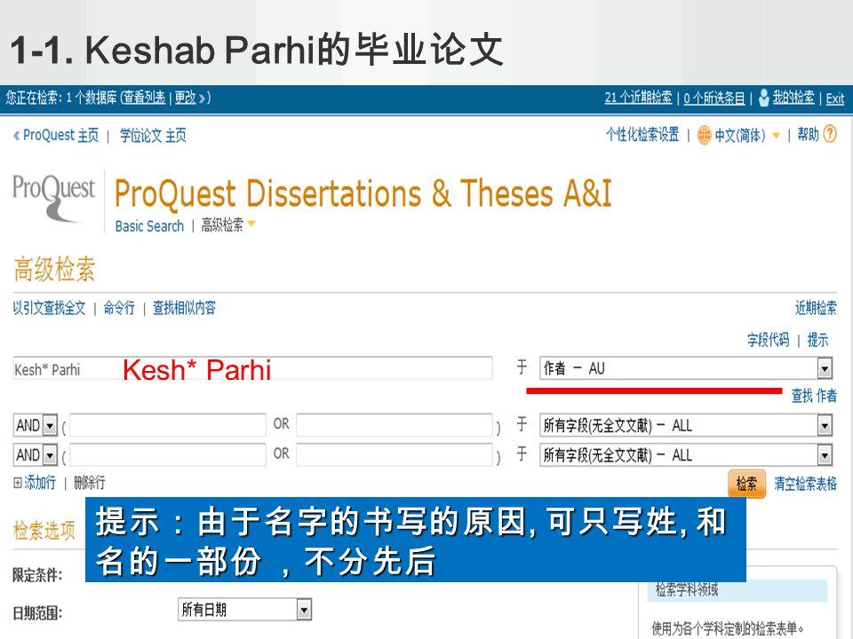 1-1. Keshab Parhi Kesh* Parhi,,,,