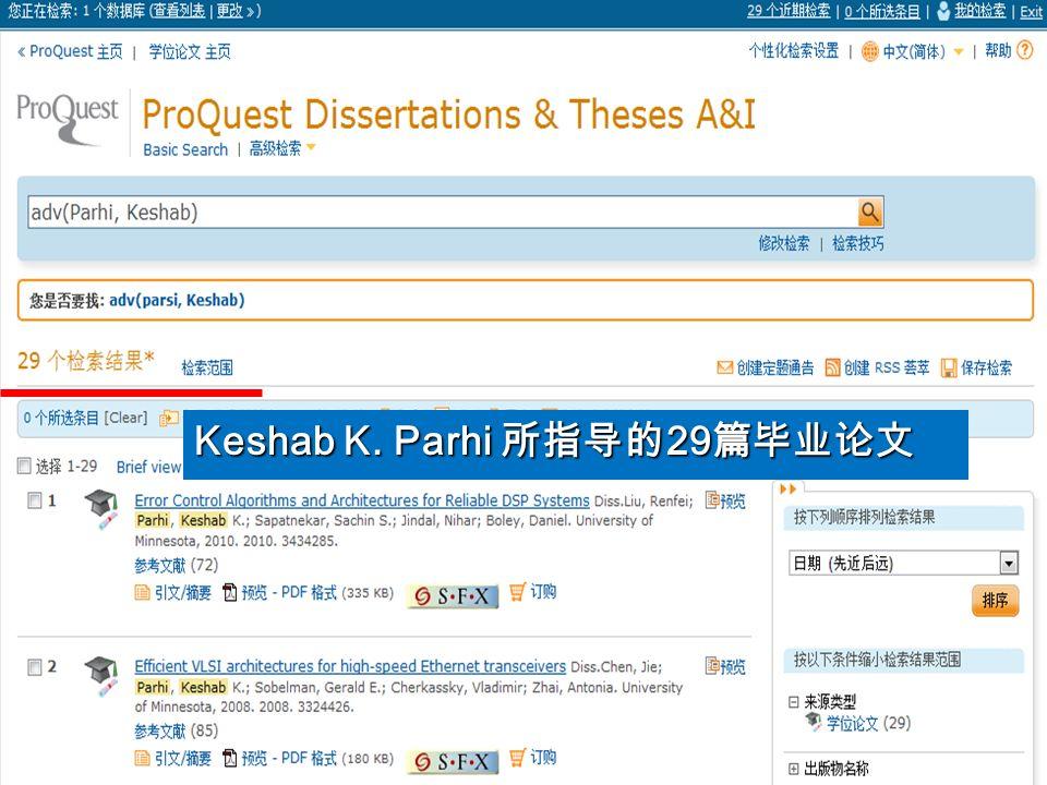 Keshab K. Parhi 29 Keshab K. Parhi 29
