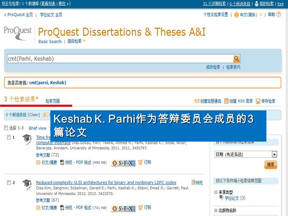 Keshab K. Parhi 3 Keshab K. Parhi 3