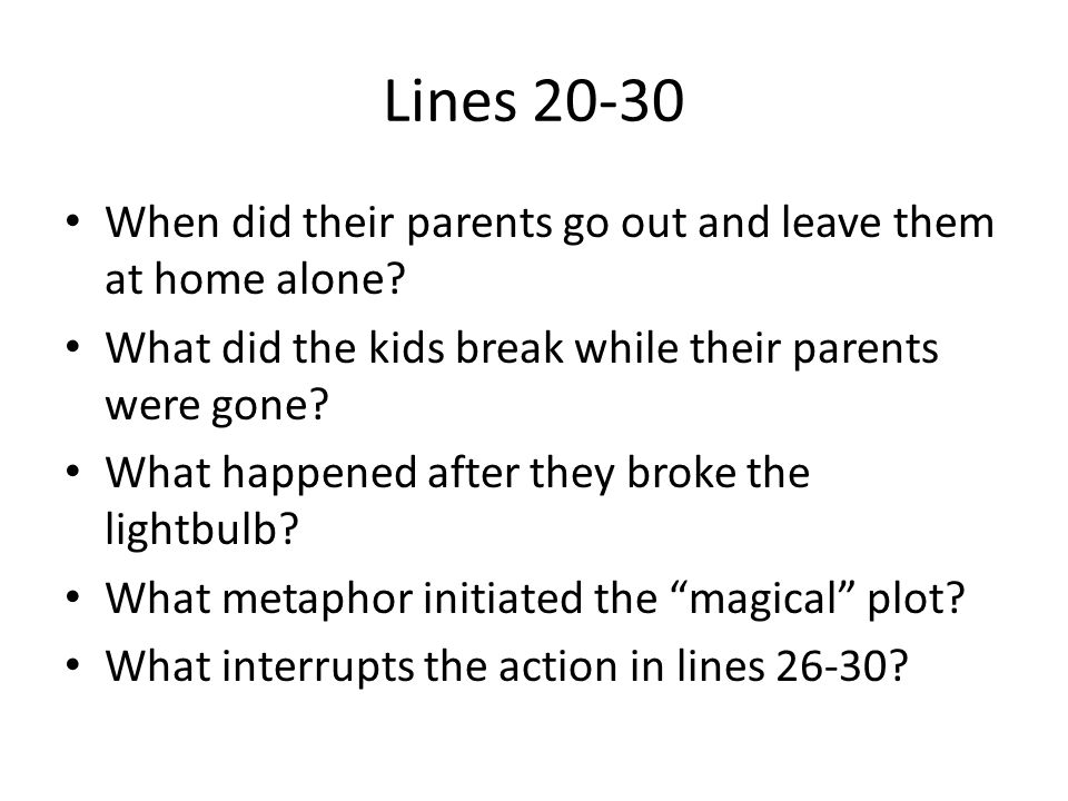 Lines 30-46 What did the parents discuss regarding the boat.