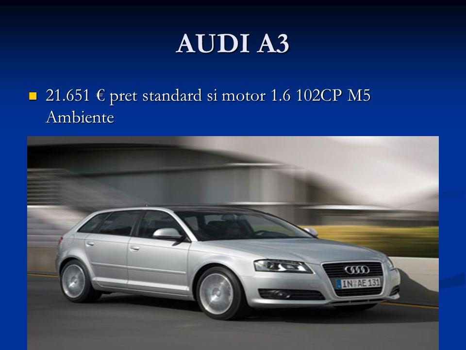 AUDI A3 21.651 pret standard si motor 1.6 102CP M5 Ambiente 21.651 pret standard si motor 1.6 102CP M5 Ambiente