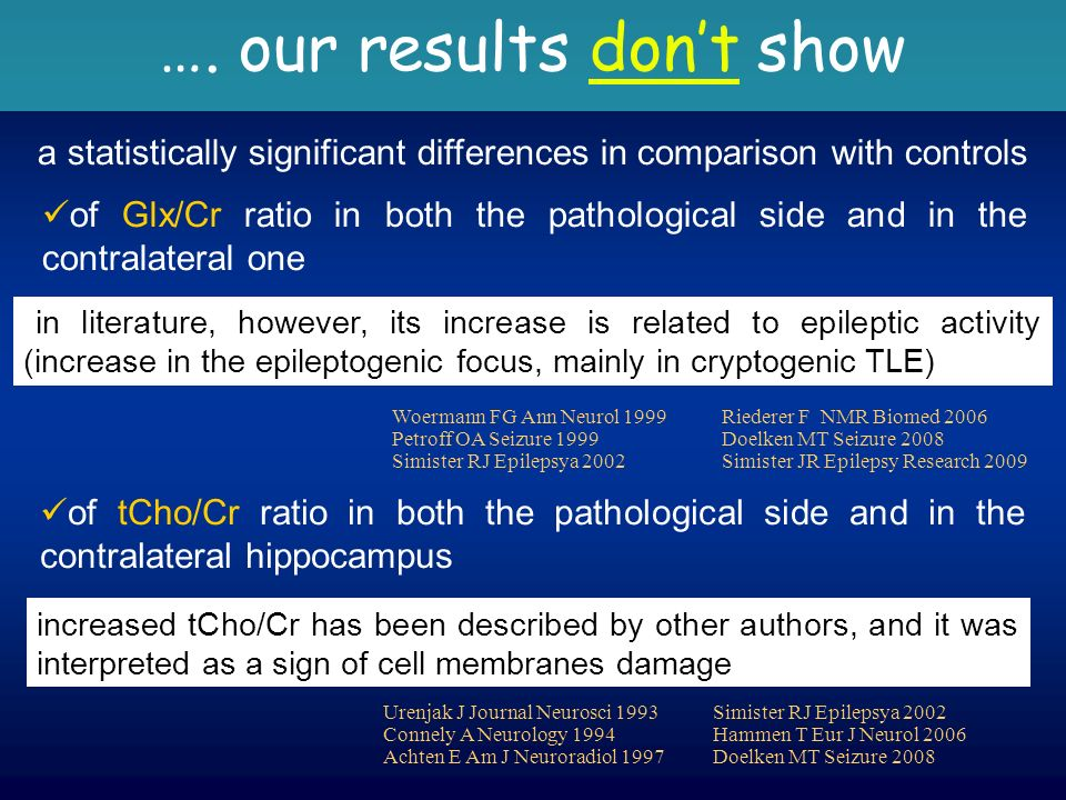 a statistically significant differences in comparison with controls …. our results dont show in literature, however, its increase is related to epilep
