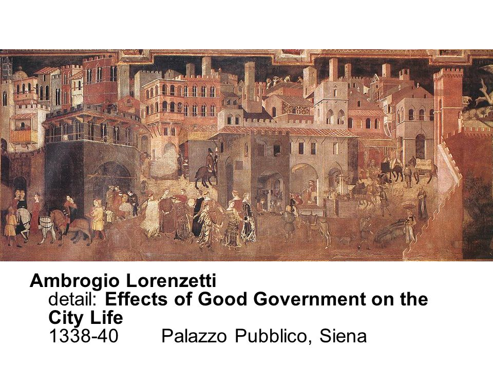 Ambrogio Lorenzetti detail: Effects of Good Government on the City Life 1338-40 Palazzo Pubblico, Siena