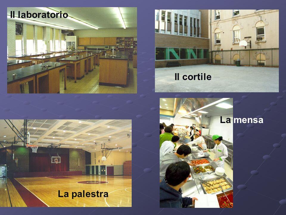 Il laboratorio La mensa Il cortile La palestra
