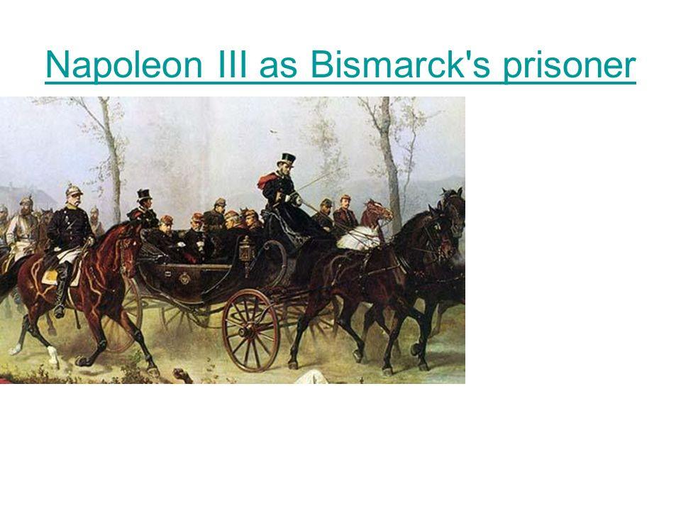 Napoleon III as Bismarck's prisoner