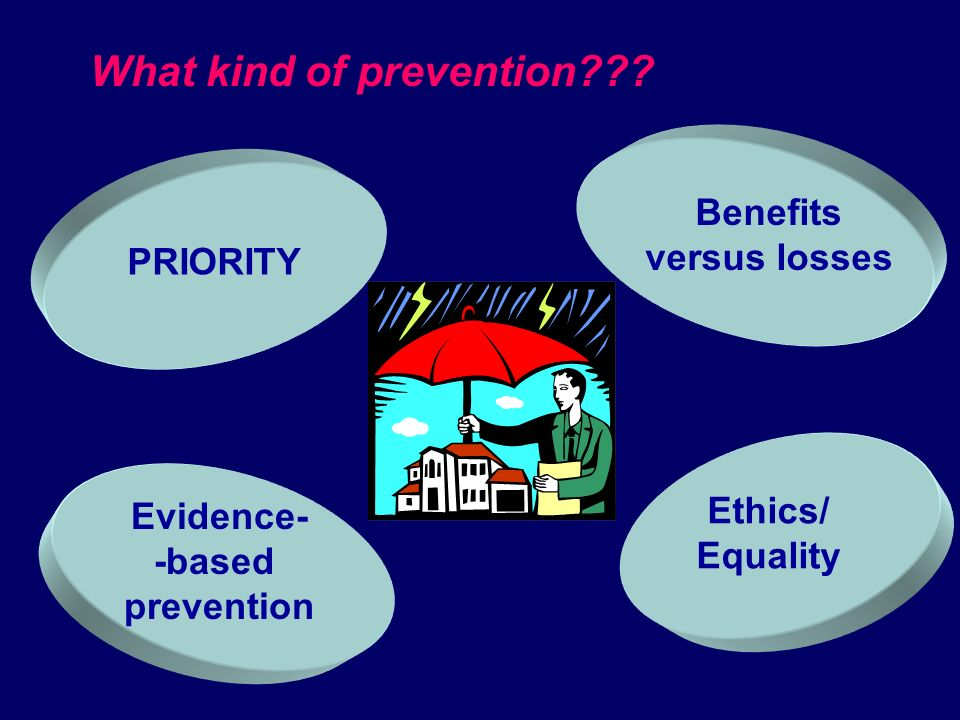 Department of Prevention characteristics QUALITY ASSURANCE Evaluation of: - outcomes - specialist