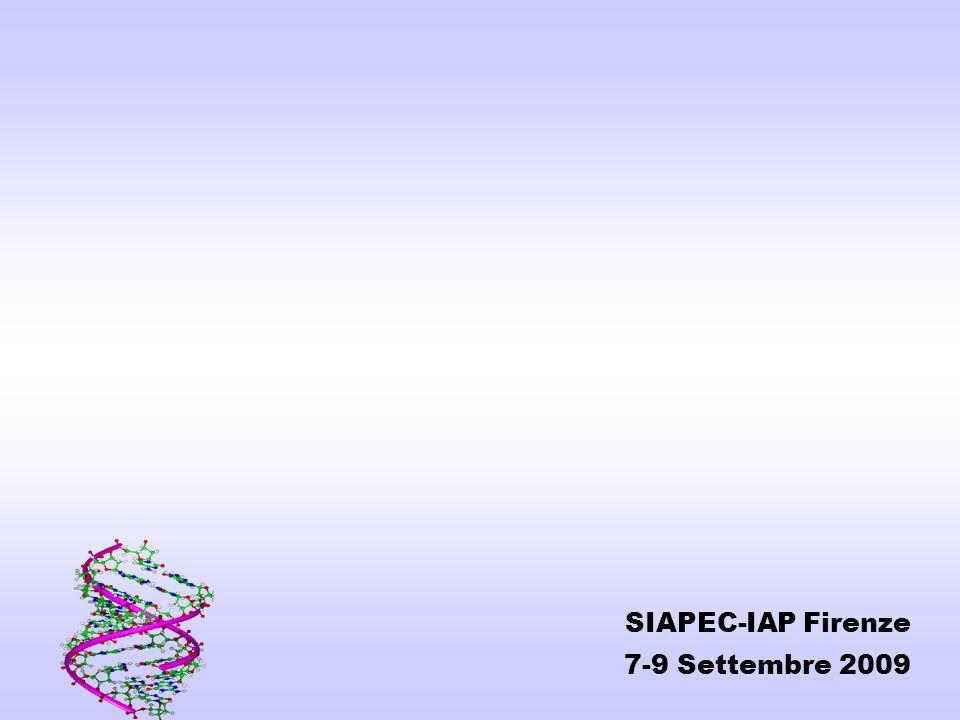 SIAPEC-IAP Firenze 7-9 Settembre 2009