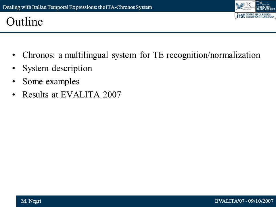 EVALITA07 - 09/10/2007M.