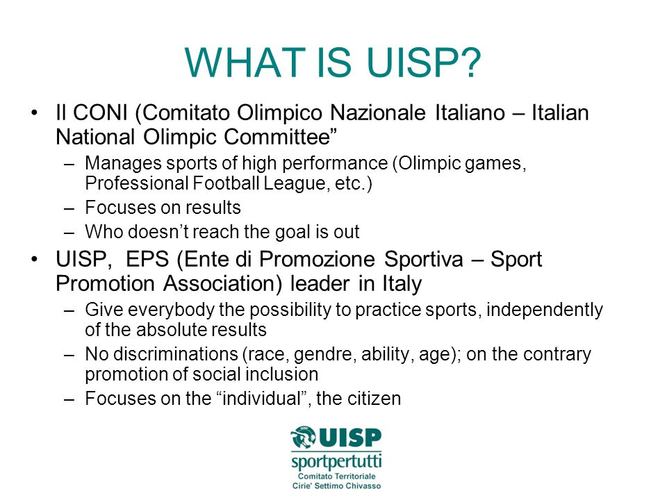 WHAT IS UISP.
