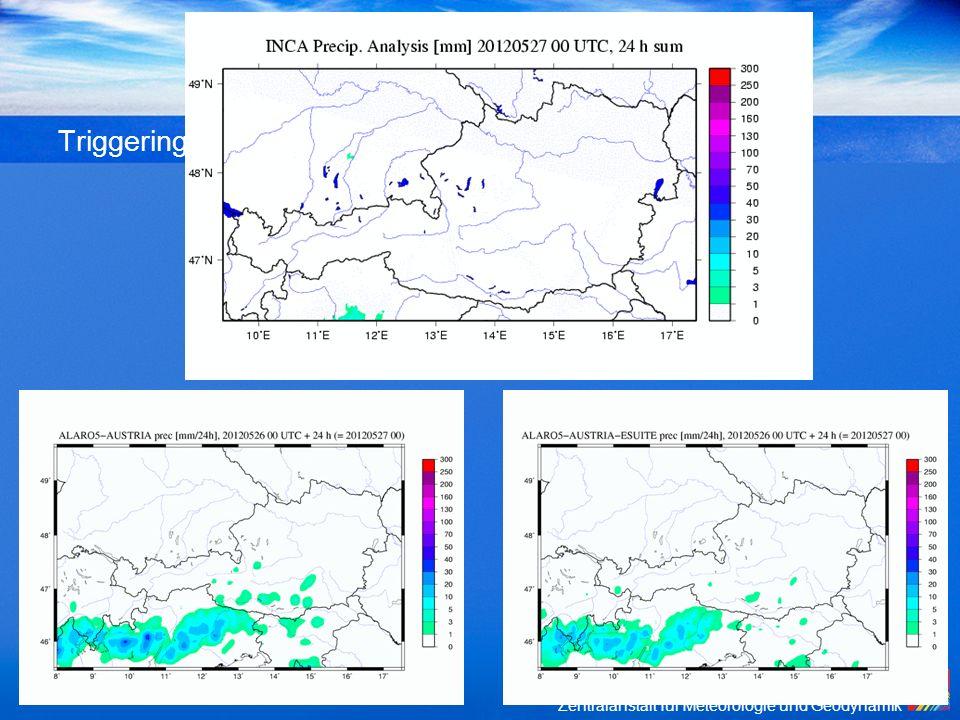Zentralanstalt für Meteorologie und Geodynamik Triggering of convection