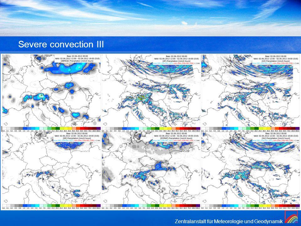 Zentralanstalt für Meteorologie und Geodynamik Severe convection III