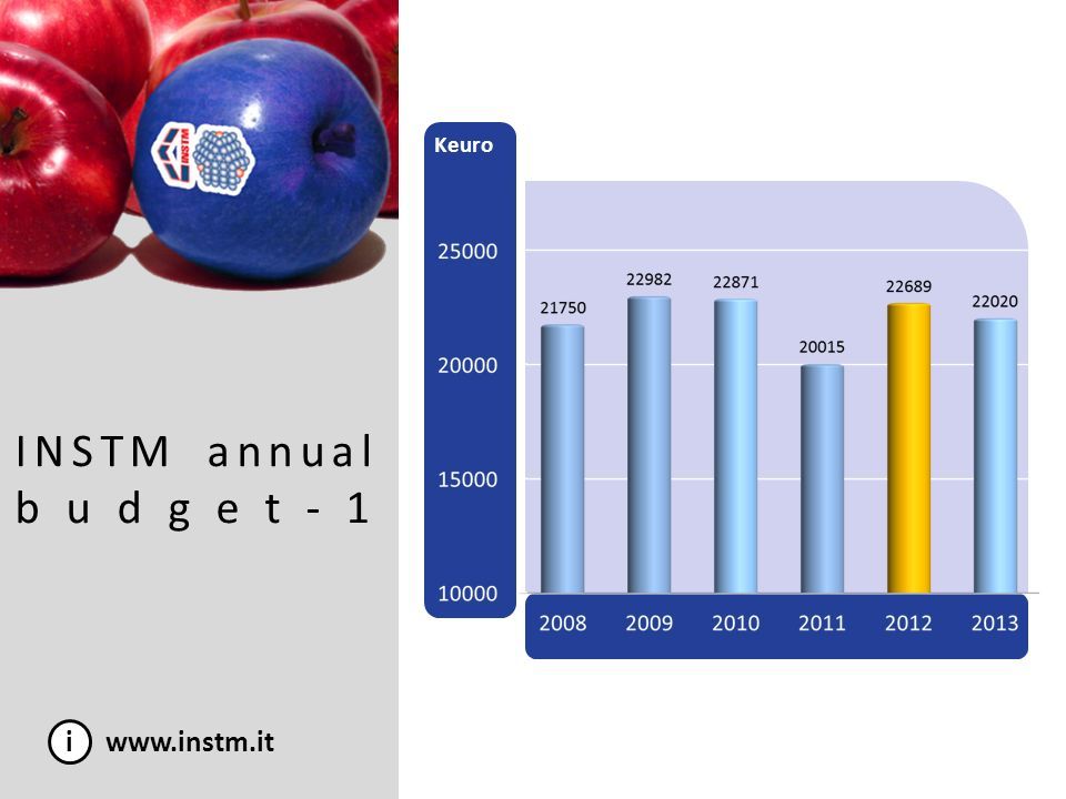 i www.instm.it INSTM annual budget-1 Keuro