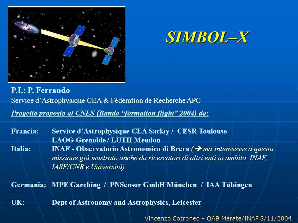 Vincenzo Cotroneo – OAB Merate/INAF 8/11/2004 P.I.: P. Ferrando Service dAstrophysique CEA & Fédération de Recherche APC Progetto proposto al CNES (Ba
