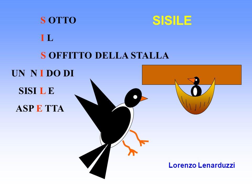 S OTTO I L S OFFITTO DELLA STALLA UN N I DO DI SISI L E ASP E TTA Lorenzo Lenarduzzi SISILE