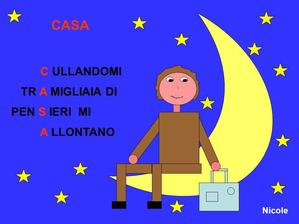 Nicole CASA C ULLANDOMI TR A MIGLIAIA DI PEN S IERI MI A LLONTANO