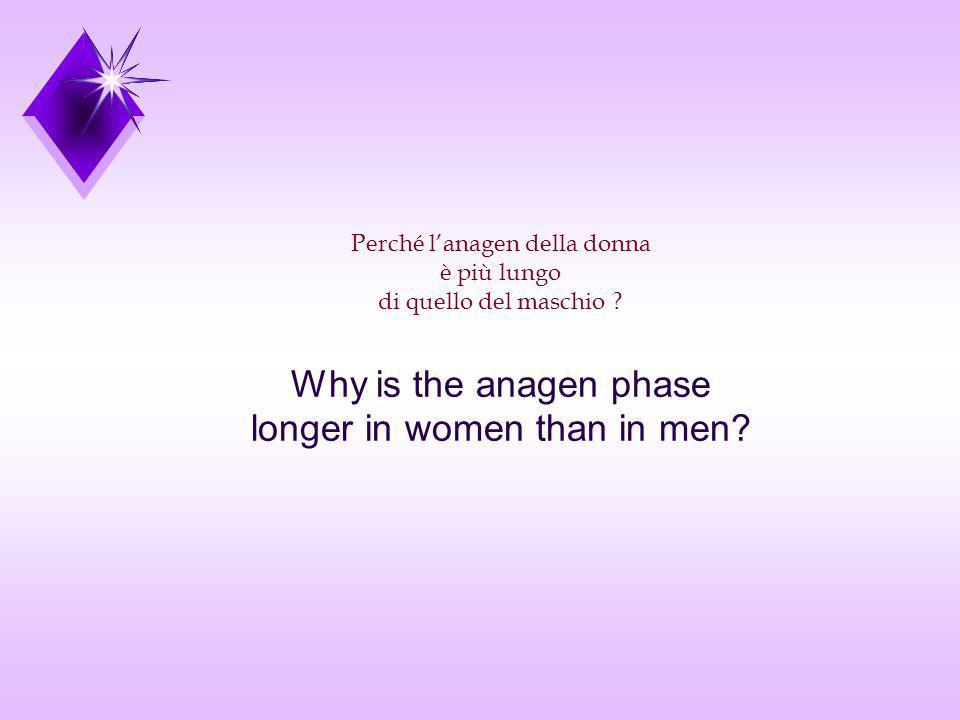 Perché lanagen della donna è più lungo di quello del maschio ? Why is the anagen phase longer in women than in men?
