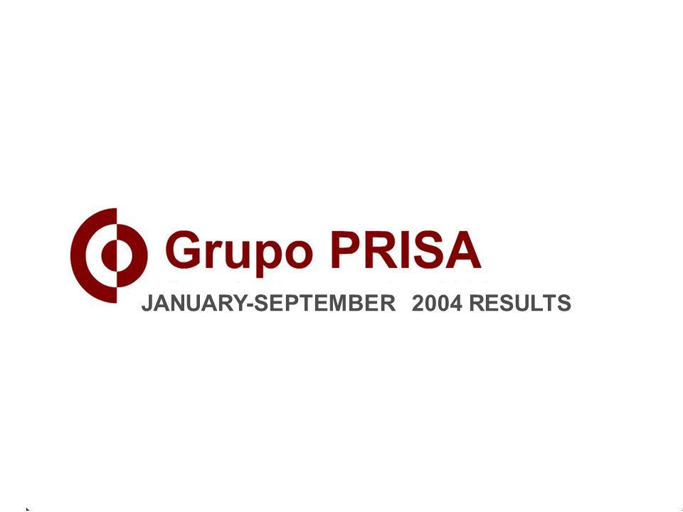 JANUARY-SEPTEMBER 2004 RESULTS