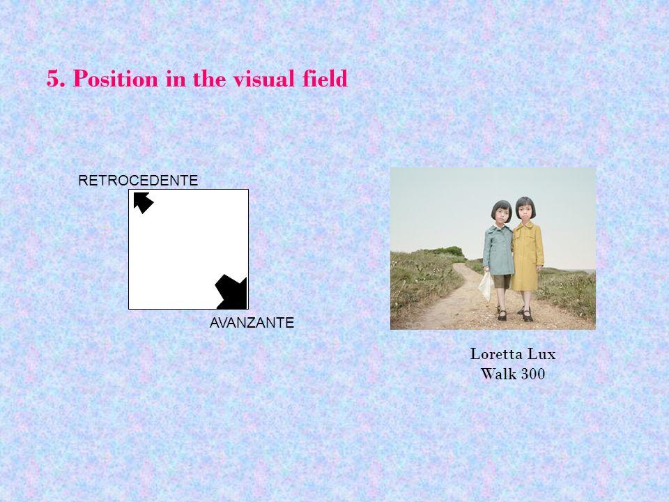 5. Position in the visual field RETROCEDENTE AVANZANTE Loretta Lux Walk 300