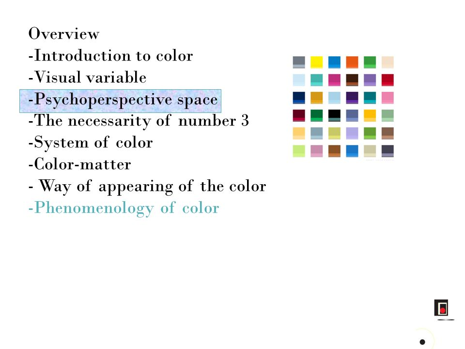 Complementarity in the color Polarity in the space Opposition in geometry Duality in the shape..
