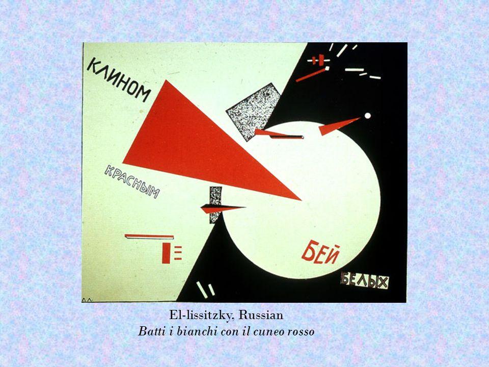 El-lissitzky, Russian Batti i bianchi con il cuneo rosso