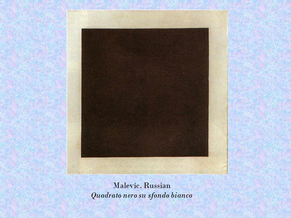 Malevic, Russian Quadrato nero su sfondo bianco