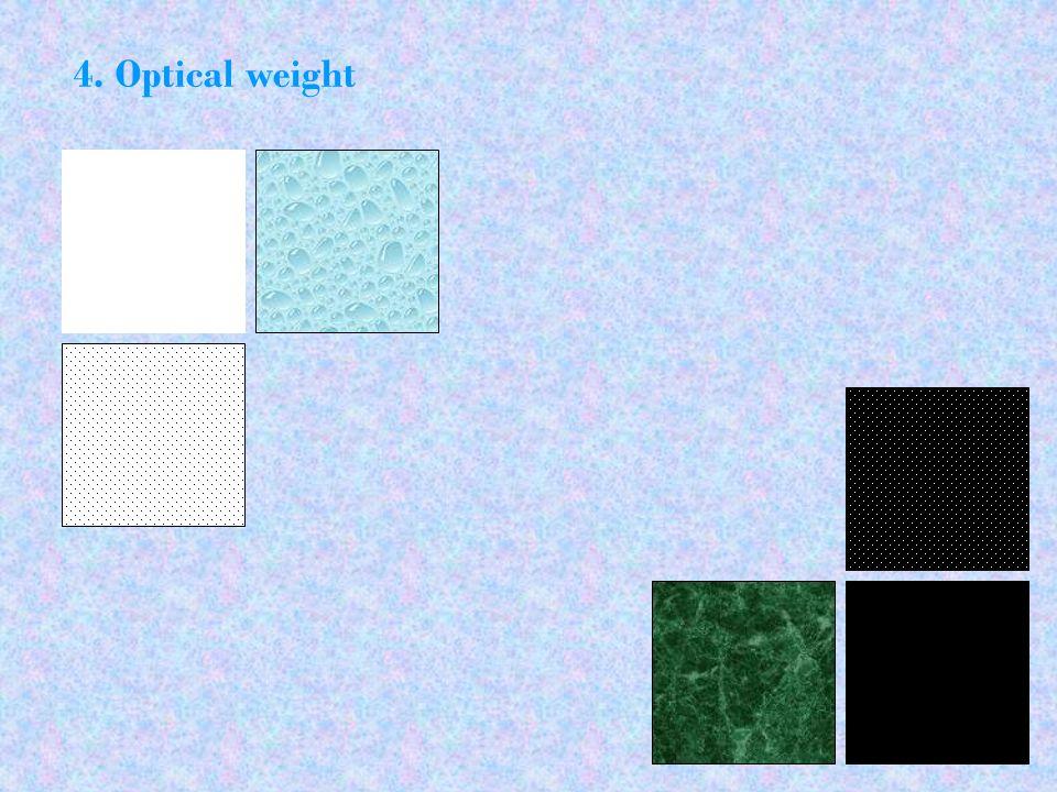 4. Optical weight