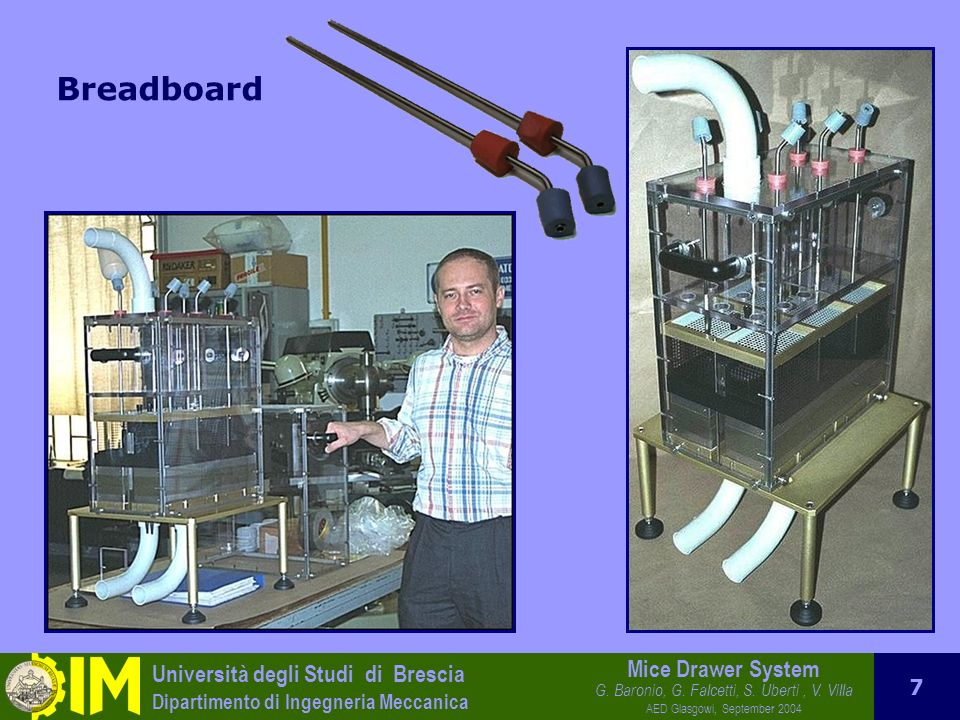 Università degli Studi di Brescia Dipartimento di Ingegneria Meccanica Mice Drawer System G.