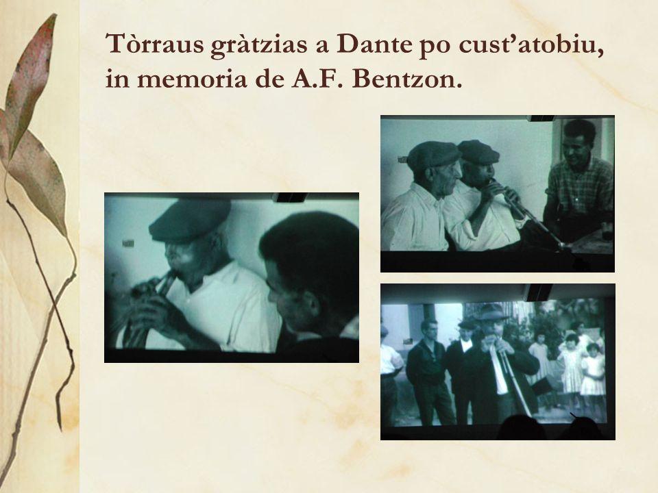 Tòrraus gràtzias a Dante po custatobiu, in memoria de A.F. Bentzon.