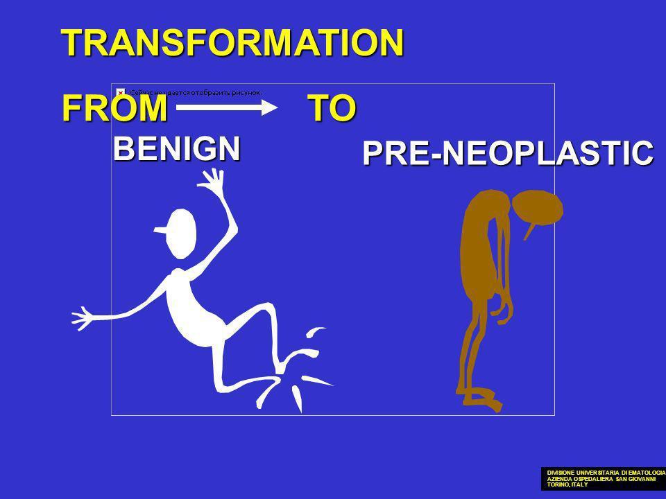 TRANSFORMATION BENIGN PRE-NEOPLASTIC FROMTO