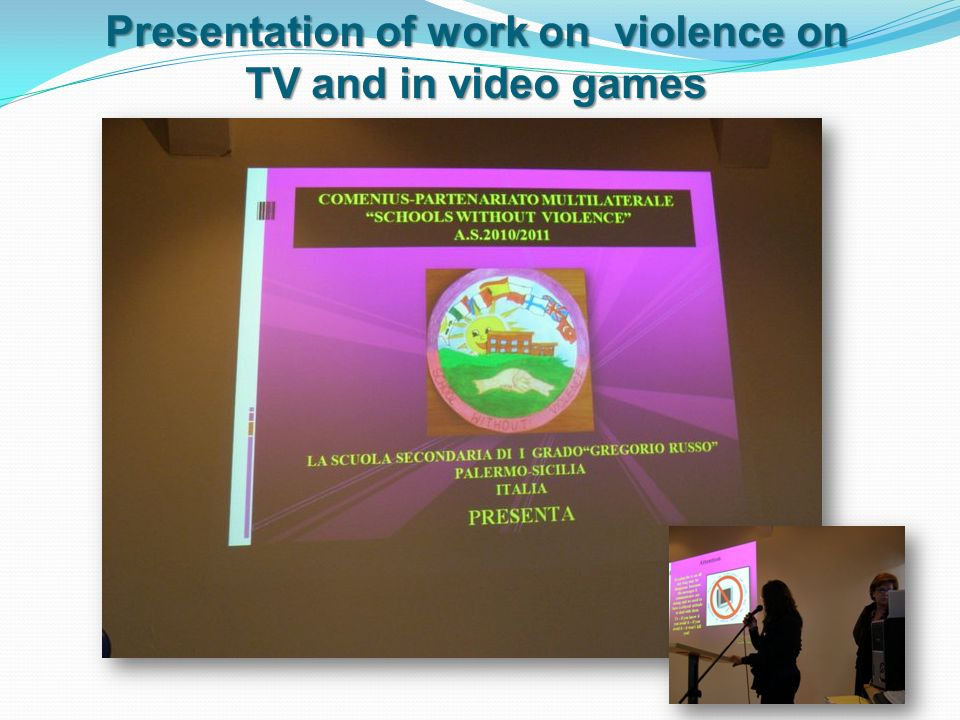 Presentation of work on violence on TV and in video games