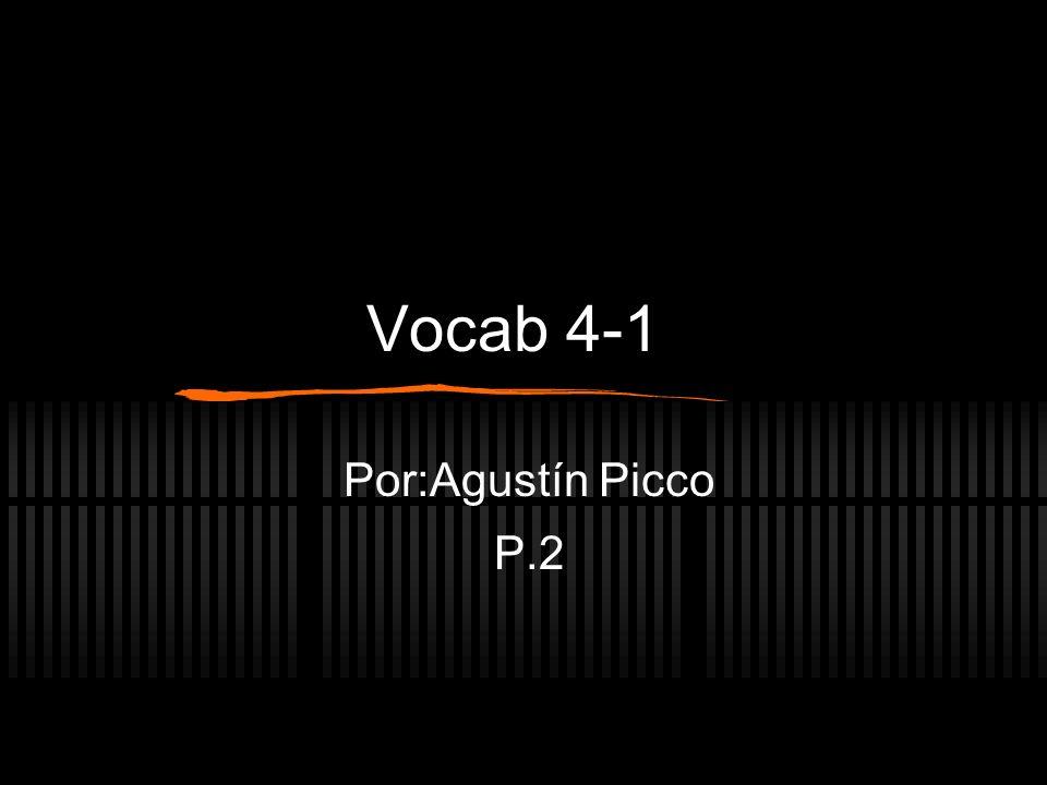Vocab 4-1 Por:Agustín Picco P.2