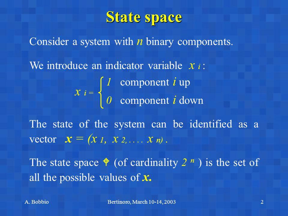 A. BobbioBertinoro, March 10-14, 20033 2-component system