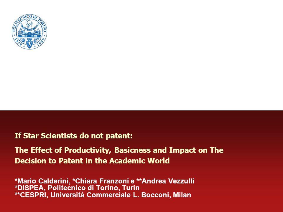 Academic Patenting.Rivalry vs.