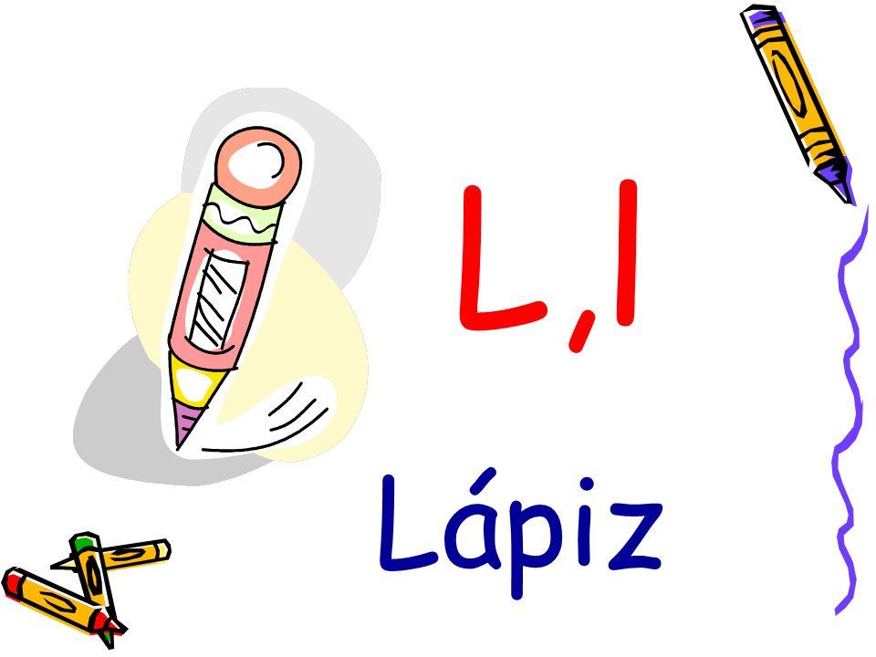 L,l Lápiz