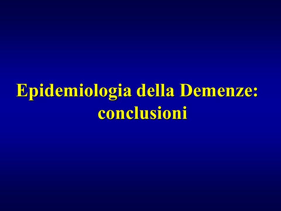 Epidemiologia della Demenze: conclusioni