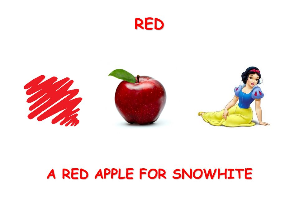 A RED APPLE FOR SNOWHITE RED