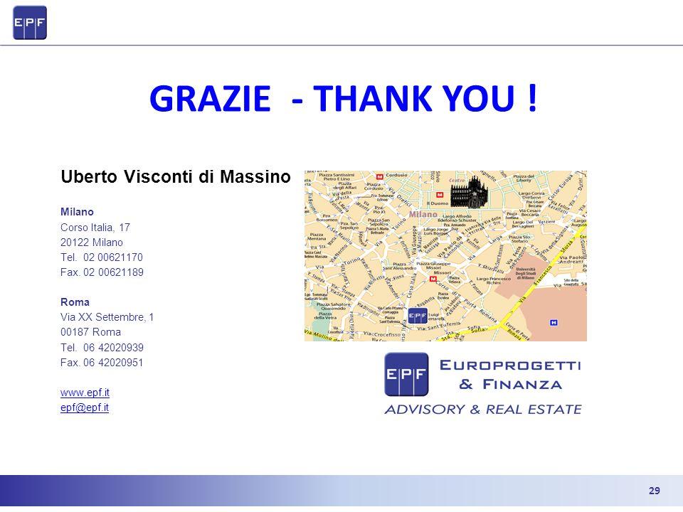 Uberto Visconti di Massino Milano Corso Italia, 17 20122 Milano Tel. 02 00621170 Fax. 02 00621189 Roma Via XX Settembre, 1 00187 Roma Tel. 06 42020939