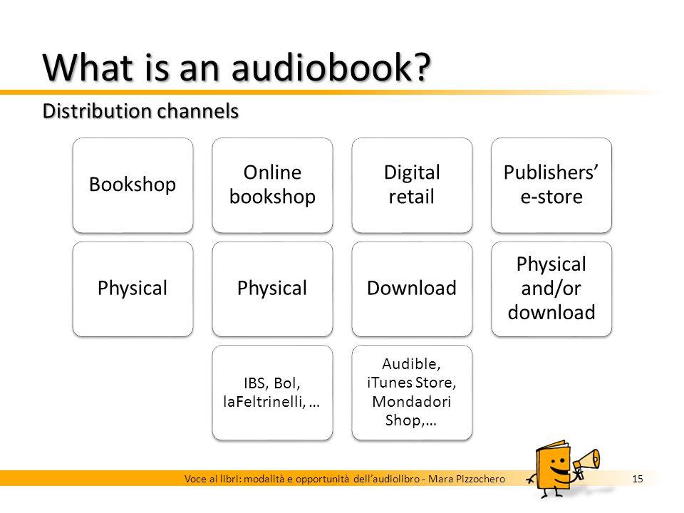 What is an audiobook? Media and formats 14Voce ai libri: modalità e opportunità dellaudiolibro - Mara Pizzochero … It can be recorded on different med