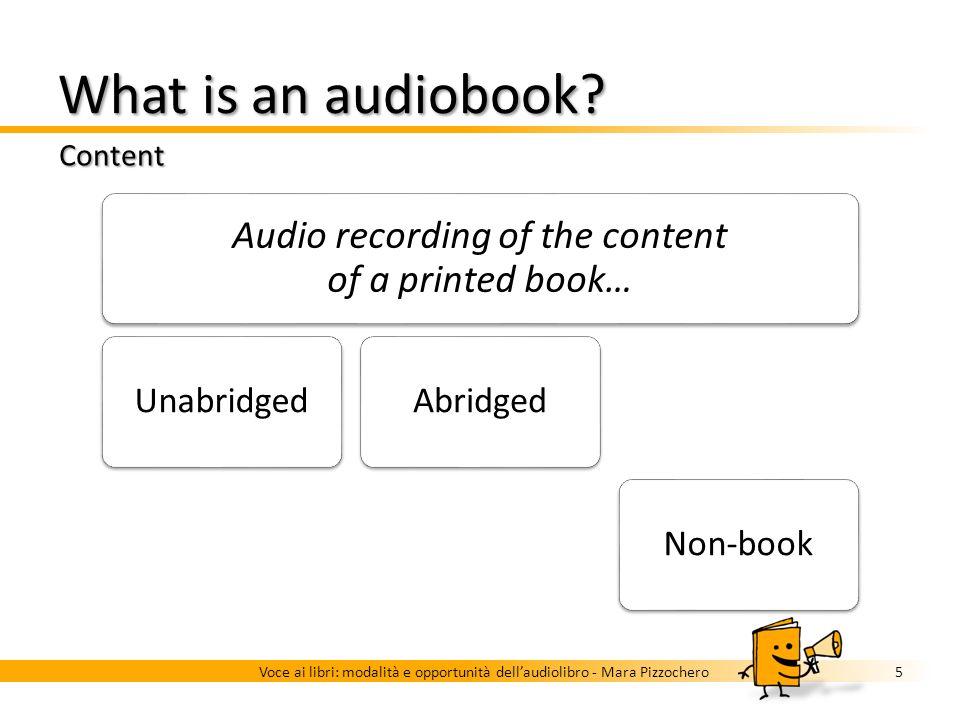 Audiobook as a reading substitute Getting beyond prejudices 4Voce ai libri: modalità e opportunità dellaudiolibro - Mara Pizzochero Audiobook was orig