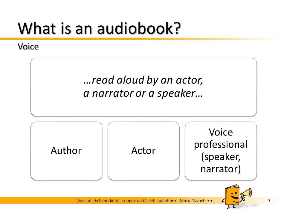 What is an audiobook? Music and sound effects 8Voce ai libri: modalità e opportunità dellaudiolibro - Mara Pizzochero Music as a distraction or a filt