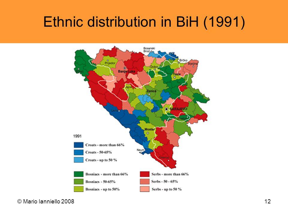 © Mario Ianniello 200812 Ethnic distribution in BiH (1991)