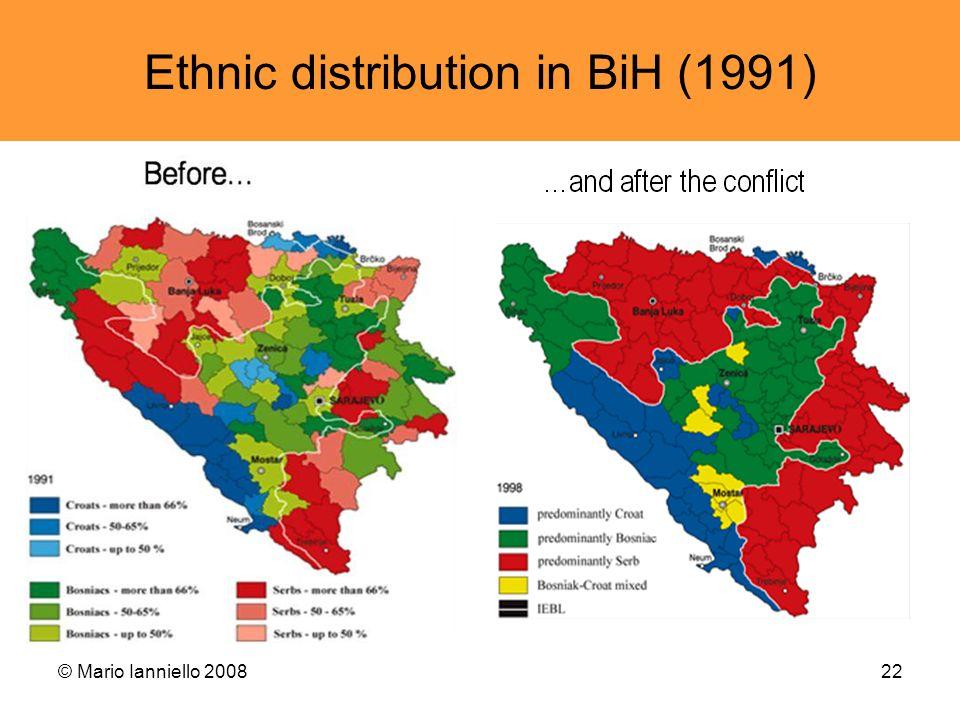 © Mario Ianniello 200822 Ethnic distribution in BiH (1991)