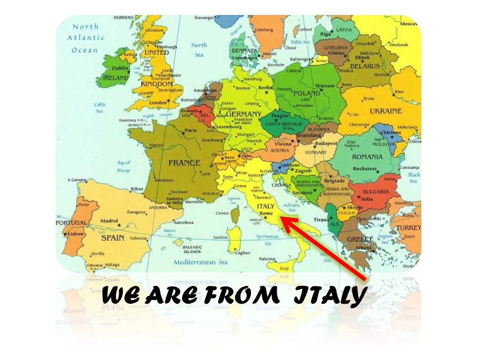 WE ARE FROM ITALY