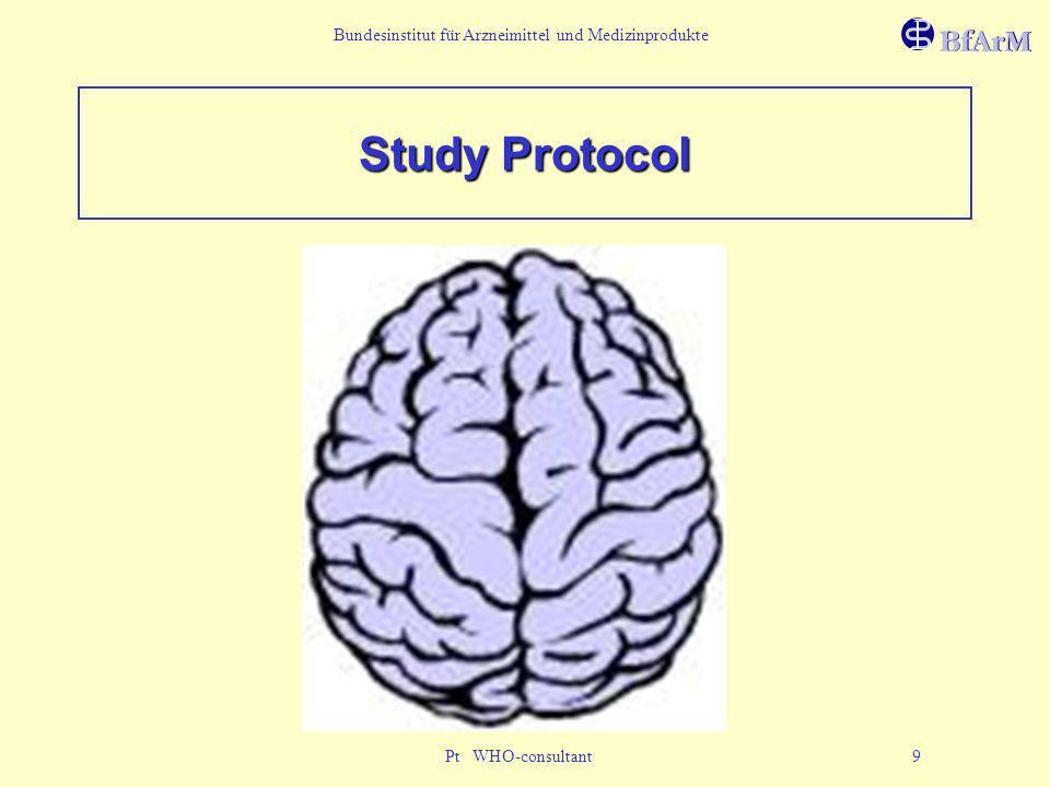 Bundesinstitut für Arzneimittel und Medizinprodukte Pt WHO-consultant 9 Study Protocol