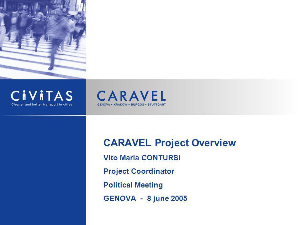 CARAVEL Project Overview Vito Maria CONTURSI Project Coordinator Political Meeting GENOVA - 8 june 2005