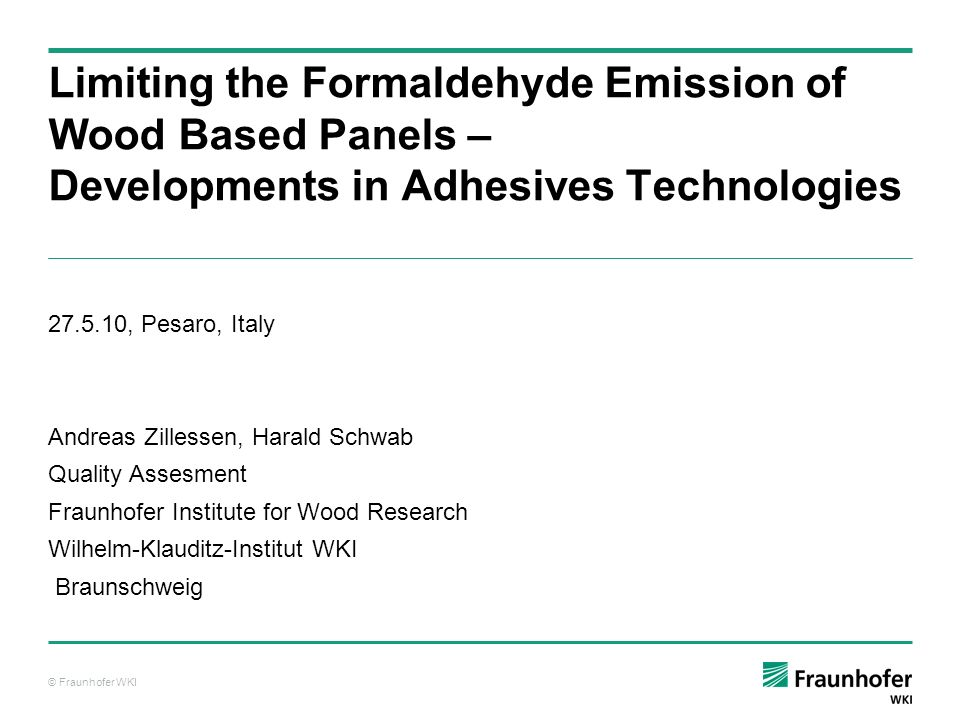 © Fraunhofer WKI Tanins are polyphenolic compounds which can be extracted from wood (e.g.