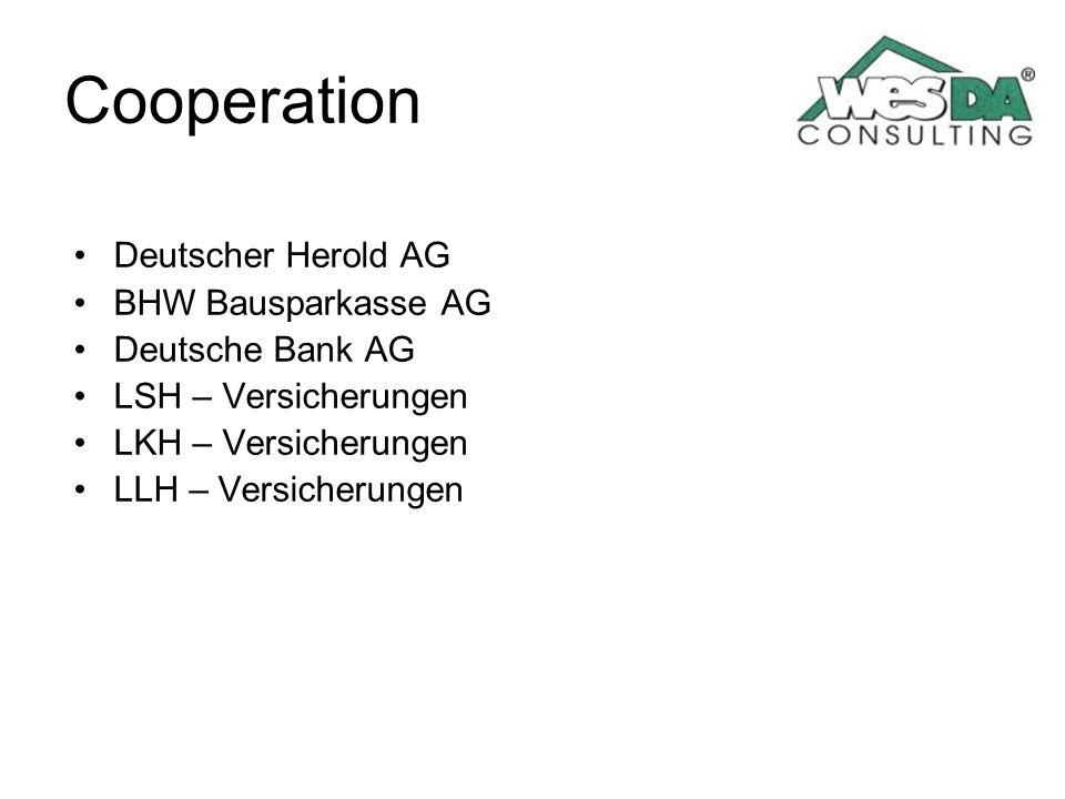 Cooperation Deutscher Herold AG BHW Bausparkasse AG Deutsche Bank AG LSH – Versicherungen LKH – Versicherungen LLH – Versicherungen