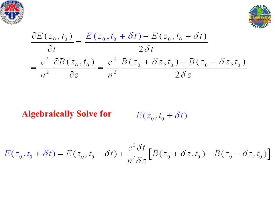 Algebraically Solve for